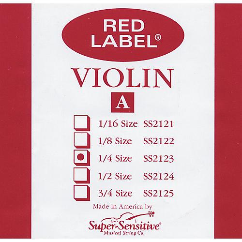 Super Sensitive Red Label Violin A String  1/4