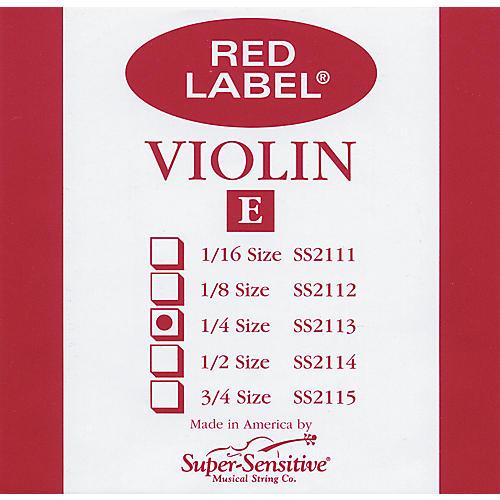 Super Sensitive Red Label Violin E String  1/4