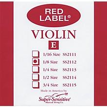 Super Sensitive Red Label Violin E String 1/8