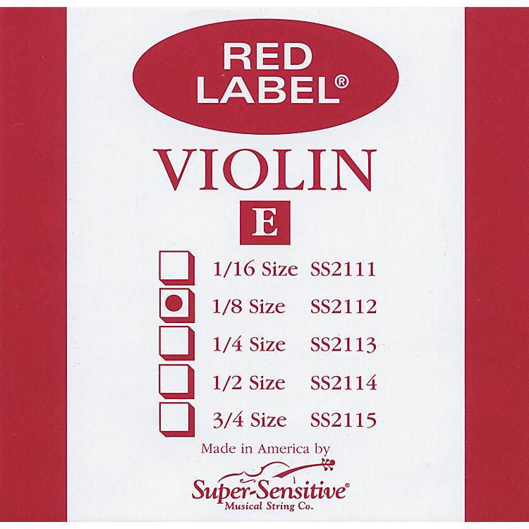 Super SensitiveRed Label Violin E String1/2
