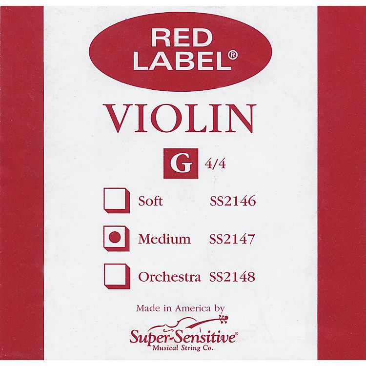 Super Sensitive Red Label Violin G String  4/4