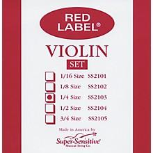 Super Sensitive Red Label Violin String Set 1/4