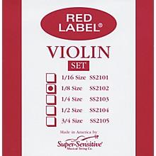 Super Sensitive Red Label Violin String Set 1/8