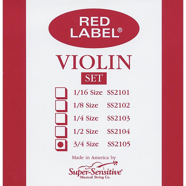 Super SensitiveRed Label Violin String Set3/4