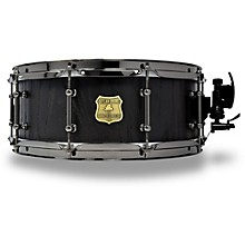 OUTLAW DRUMS Red Oak Stave Snare Drum with Black Chrome Hardware 14 x 5.5 in. Black Satin