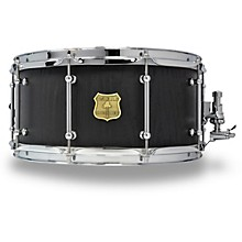 OUTLAW DRUMS Red Oak Stave Snare Drum with Chrome Hardware 14 x 6.5 in. Black Satin