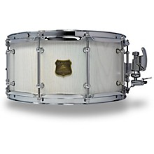 OUTLAW DRUMS Red Oak Stave Snare Drum with Chrome Hardware 14 x 6.5 in. White Wash