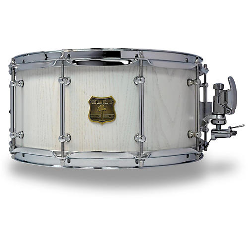 outlaw drums red oak stave snare drum with chrome hardware musician 39 s friend. Black Bedroom Furniture Sets. Home Design Ideas