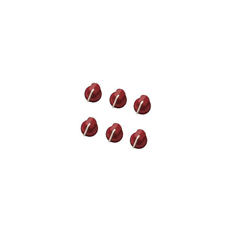 Fender Red Pointer Amplifier Knobs  6-Pack