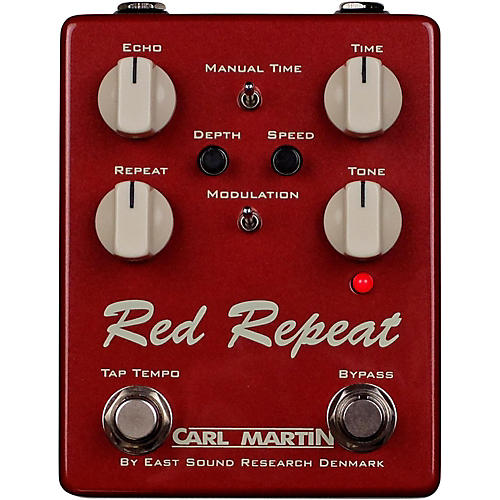 Carl Martin Red Repeat Delay Echo with Tap Tempo Pedal