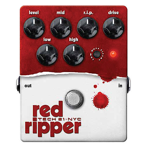 Tech 21 Red Ripper Distortion Bass Effects Pedal-thumbnail