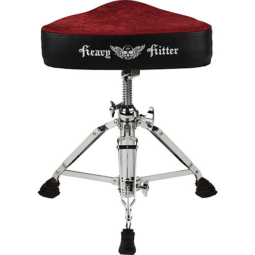 ddrum Red Velvet Motorcycle Drum Throne