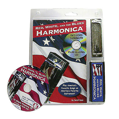 Music Sales Red, White, and the Blues Harmonica Music Sales America Series Softcover with CD Written by David Harp-thumbnail