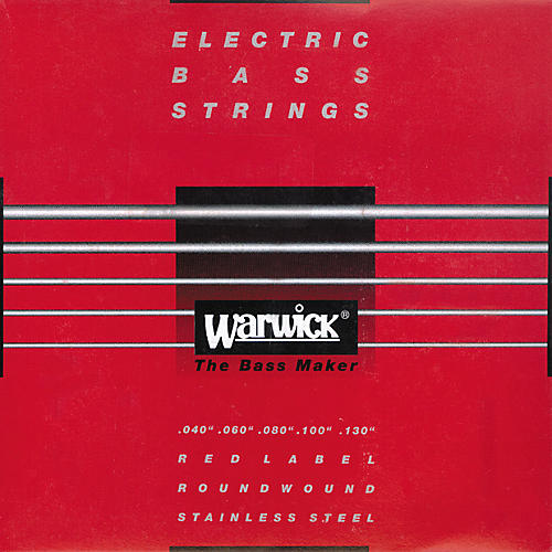 Warwick Red label Stainless Wound Medium Light 5-String Bass Strings-thumbnail