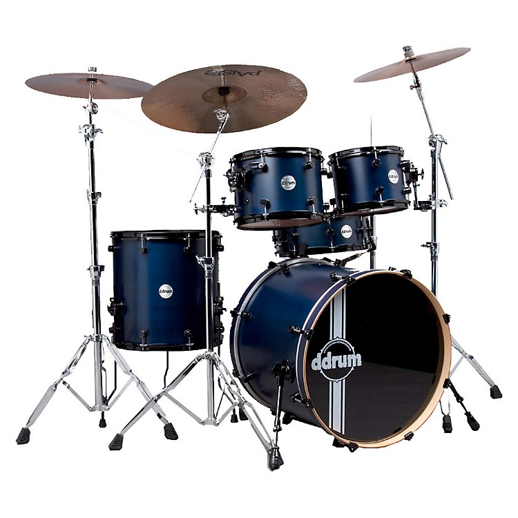 ddrum Reflex RSL 5-Piece Shell Pack Blue Satin Lacquer