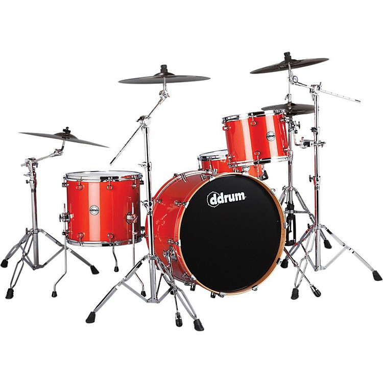 ddrum Reflex Rock 24 4-Piece Shell Pack Orange Sparkle