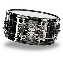 Open BoxDdrum Reflex Tattooed Lady Engraved Black Steel Snare Drum
