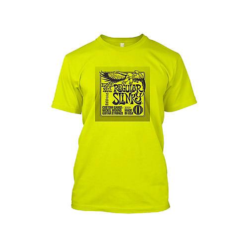 Ernie Ball Regular Slinky T-Shirt Neon Yellow Medium