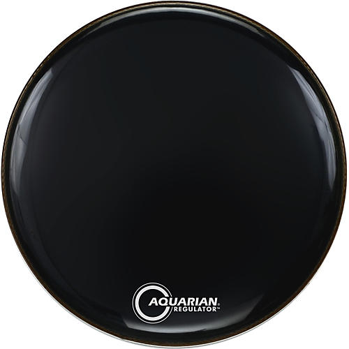 Aquarian Regulator Black Drumhead Black 22 Inches