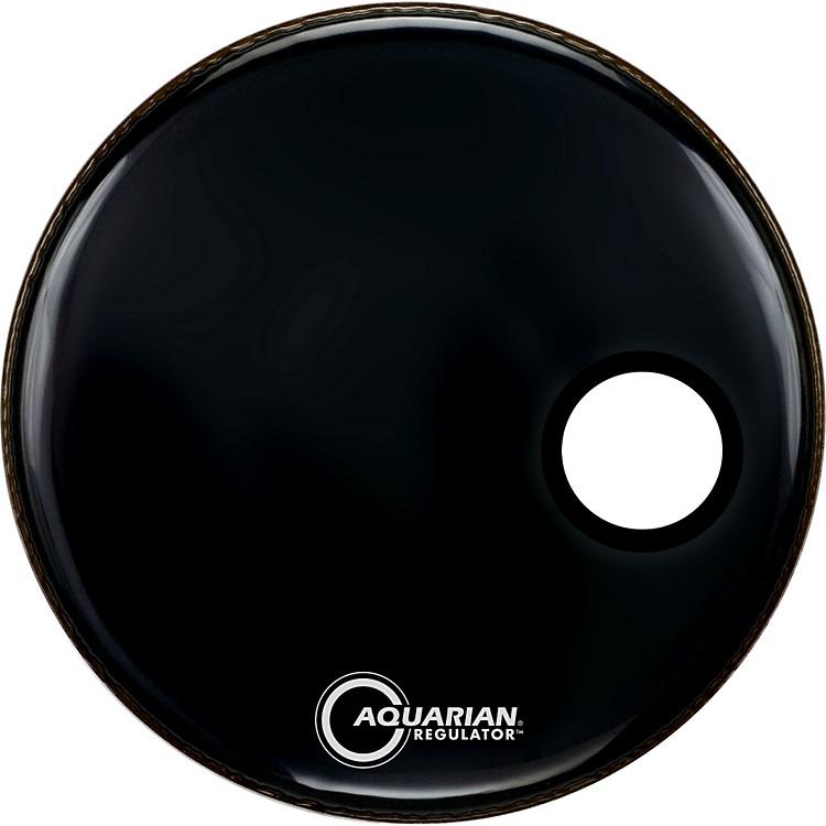 AquarianRegulator Black Resonant Kick DrumheadBlack22 Inches