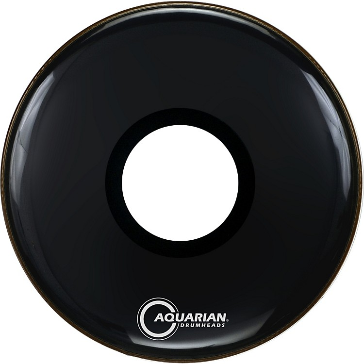 Aquarian Regulator Large Black Hole Drumhead Black 22 Inches