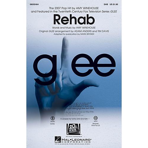Hal Leonard Rehab (from Glee) SAB by Amy Winehouse arranged by Mark Brymer-thumbnail