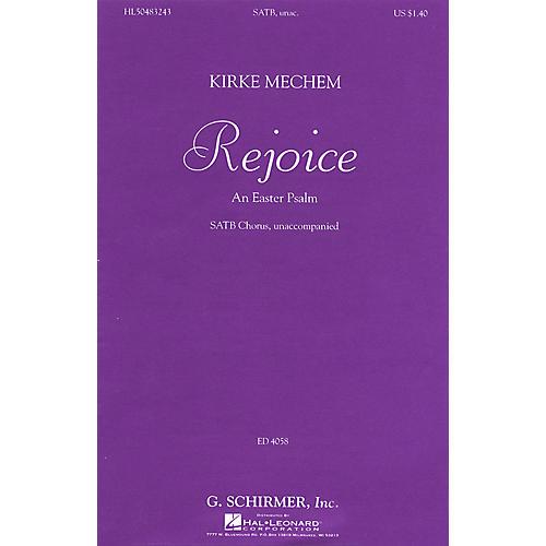 G. Schirmer Rejoice (SSAATTBB a cappella) SATB DV A Cappella composed by Kirke Mechem