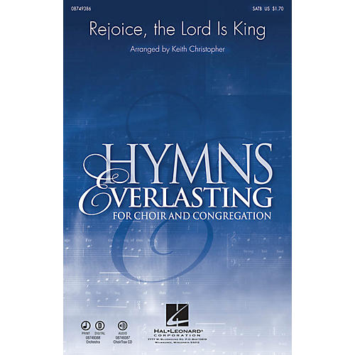 Hal Leonard Rejoice, The Lord Is King SATB arranged by Keith Christopher-thumbnail