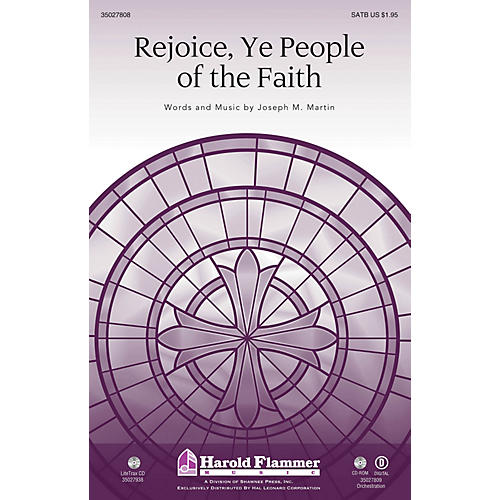 Shawnee Press Rejoice, Ye People of the Faith (Incorporating Rejoice, Ye Pure In Heart) SAB by Joseph M. Martin-thumbnail