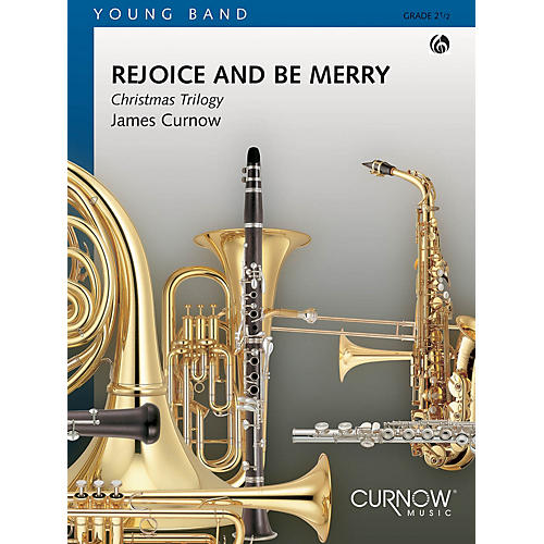 Curnow Music Rejoice and Be Merry (Grade 2 - Score Only) Concert Band Level 2 Composed by James Curnow-thumbnail