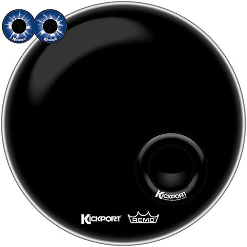 Kickport Remo Powerstroke 3 w/Pre-Installed KickPort and D-Pad Bass Drum Impact Pad