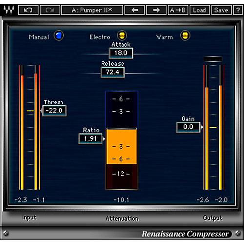 Waves Renaissance Compressor Native Software Plug-In Software Download-thumbnail