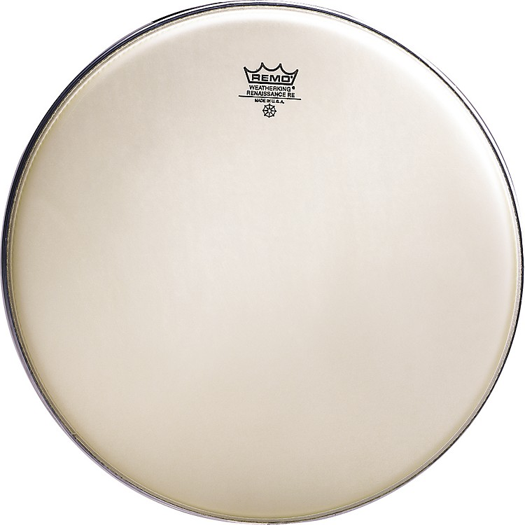 Remo Renaissance Emperor, Crimplock Marching batter Head 14 In Renaissance