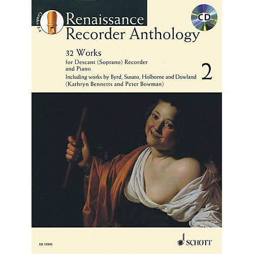 Schott Renaissance Recorder Anthology Volume 2 Woodwind Series Softcover with CD-thumbnail