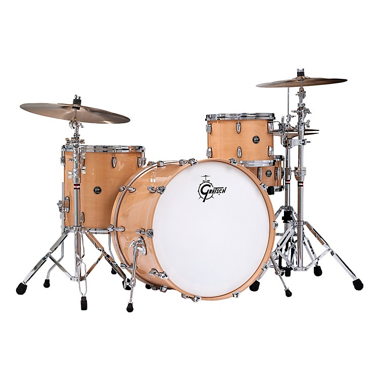 Gretsch DrumsRenown Series 3-Piece Shell Pack with 24 inch Bass DrumGloss Natural