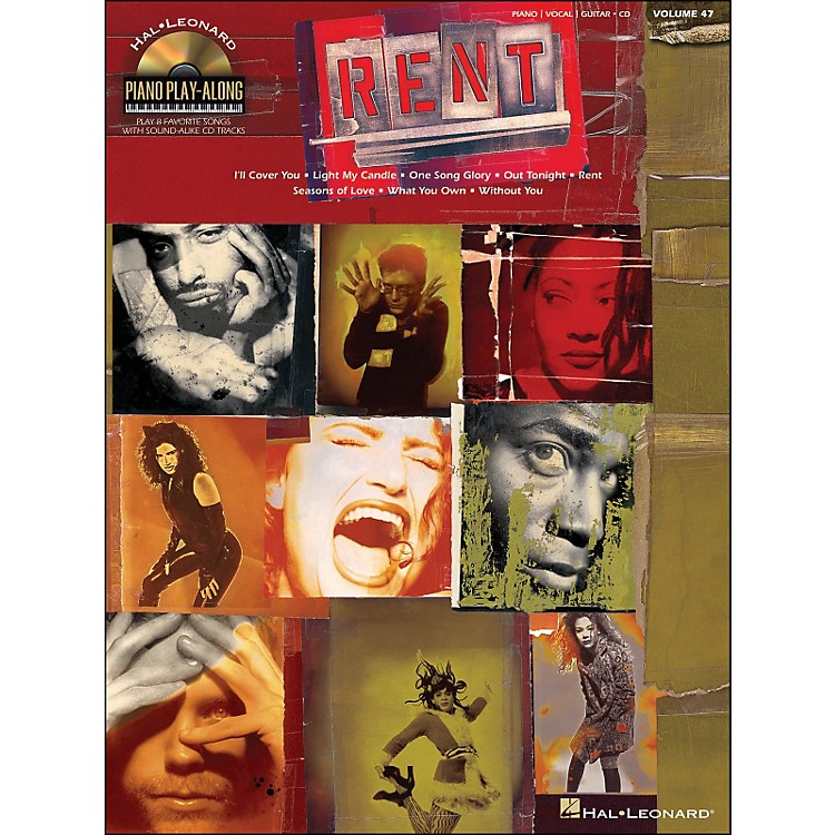 Hal Leonard Rent Piano Play-Along Volume 47 Book/CD arranged for piano, vocal, and guitar (P/V/G)