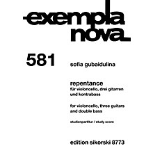 Sikorski Repentance (for Cello, 3 Guitars and Double Bass) Ensemble Series Softcover Composed by Sofia Gubaidulina