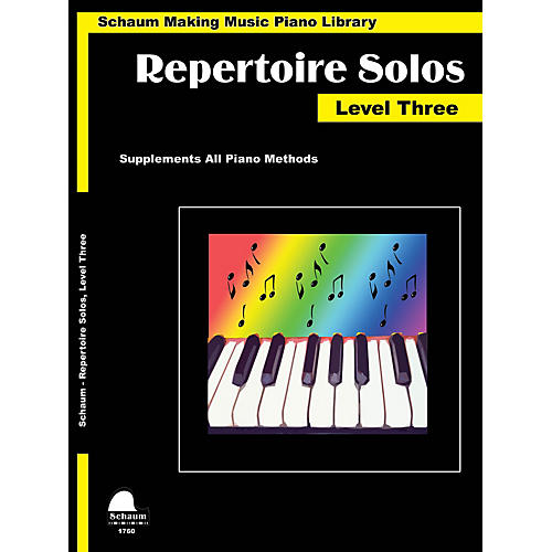 SCHAUM Repertoire Solos Level 3 Educational Piano Book by Wesley Schaum (Level Early Inter)-thumbnail