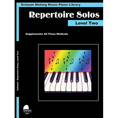 SCHAUM Repertoire Solos Level Two Educational Piano Book by Wesley Schaum (Level Late Elem)-thumbnail