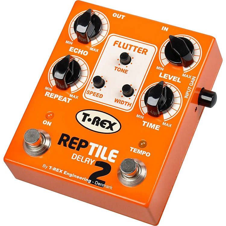 T-Rex Engineering Reptile 2 Digital Delay Guitar Effects Pedal Orange