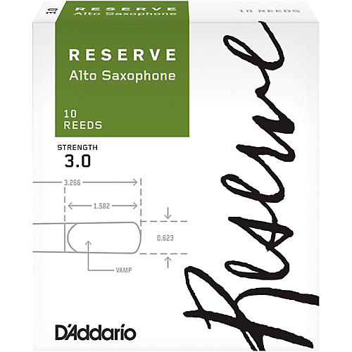 D'Addario Woodwinds Reserve Alto Saxophone Reeds 10 Pack-thumbnail