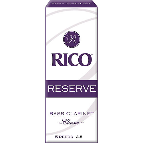 Rico Reserve Classic Bass Clarinet Reeds Strength 2.5