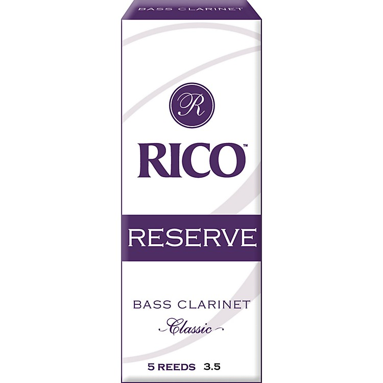 Rico Reserve Classic Bass Clarinet Reeds Strength 3.5