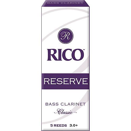 Rico Reserve Classic Bass Clarinet Reeds Strength 3+