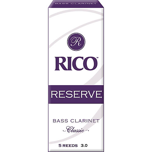 Rico Reserve Classic Bass Clarinet Reeds Strength 3