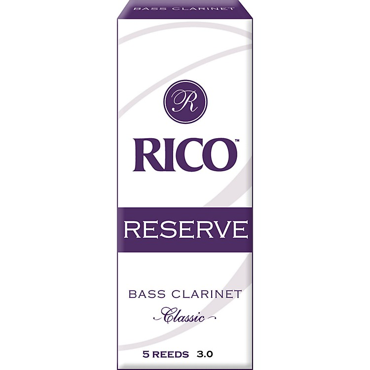 Rico Reserve Classic Bass Clarinet Reeds Strength 3