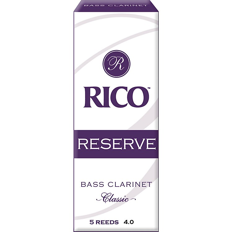 Rico Reserve Classic Bass Clarinet Reeds Strength 4