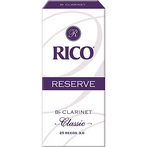 Rico Reserve Classic Bb Clarinet Reeds Box of 25 Strength 3