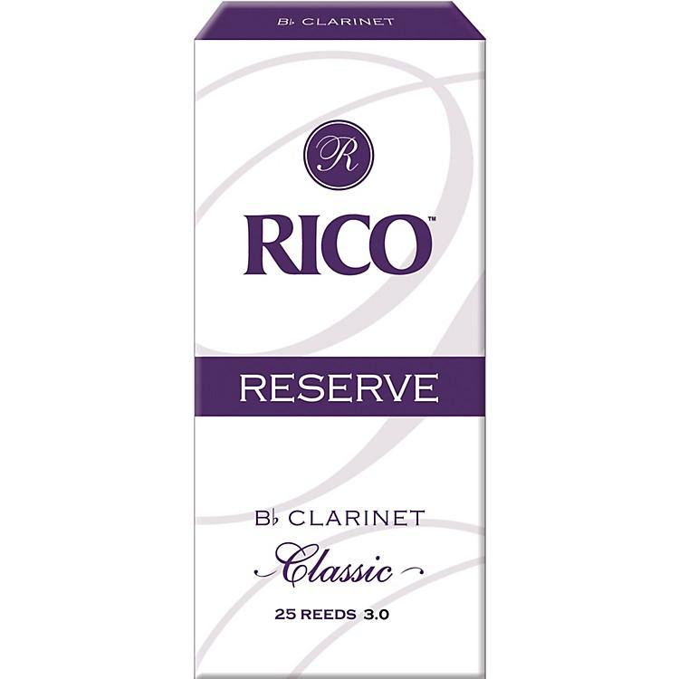RicoReserve Classic Bb Clarinet Reeds Box of 25Strength 3