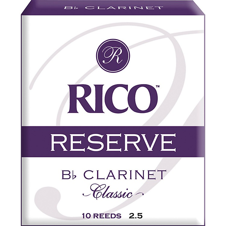 Rico Reserve Classic Bb Clarinet Reeds Strength 2.5